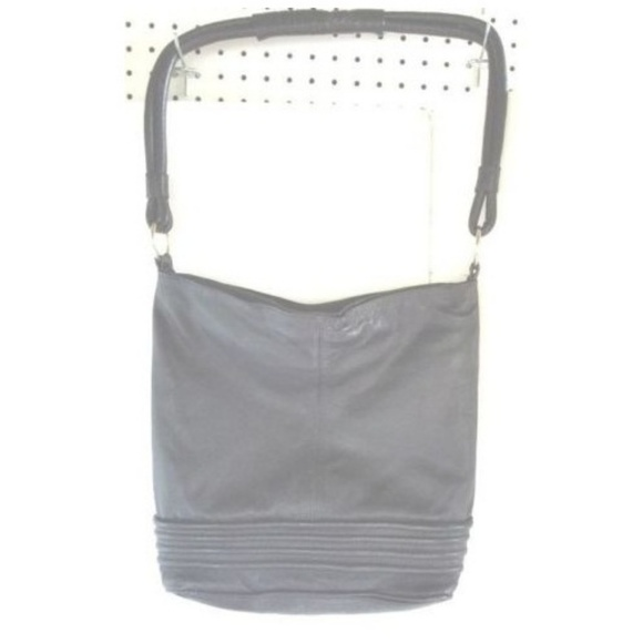 "Unbrand Handbags - Large Black Leather Purse Satchel 12"" x 15"" x 5"""